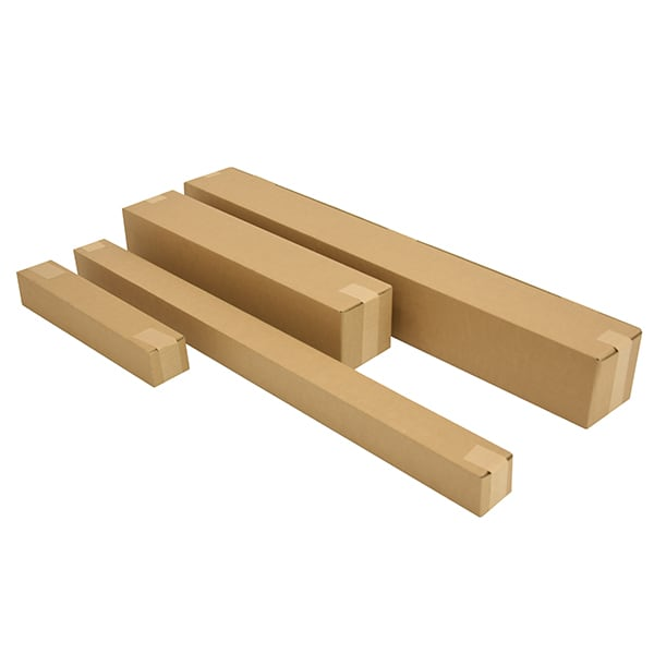 Vierkante kartonnen kokers - 1600 x 120 x 120mm (10 st)