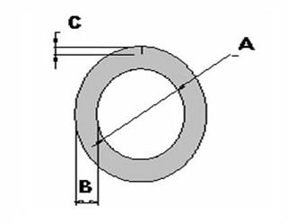 OS Schuimprofiel - ⌀42 x 9mm x 200cm (60 st)