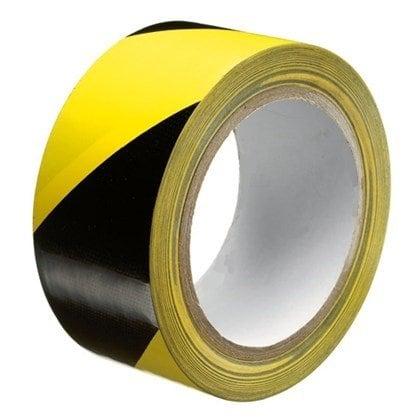 Markeringstape zwart/geel - 50mm x 33m