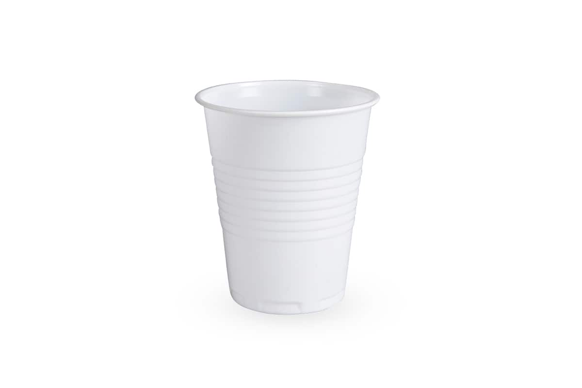 Plastic koffiebekers wit - 180ml (3.000 st)