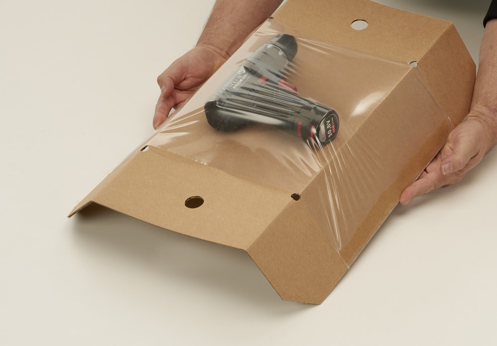 Speedbox retour dozen + fixeertray - 250 x 155 x 110mm (20 st)