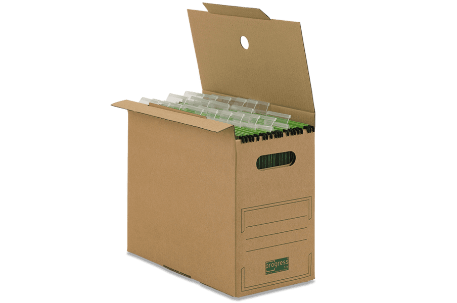 Kartonnen archiefdoos voor hangmappen - bruin (10 st)