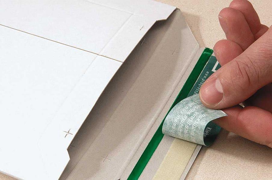 Massief kartonnen enveloppen wit - 167 x 240 x 0-30mm (100st)
