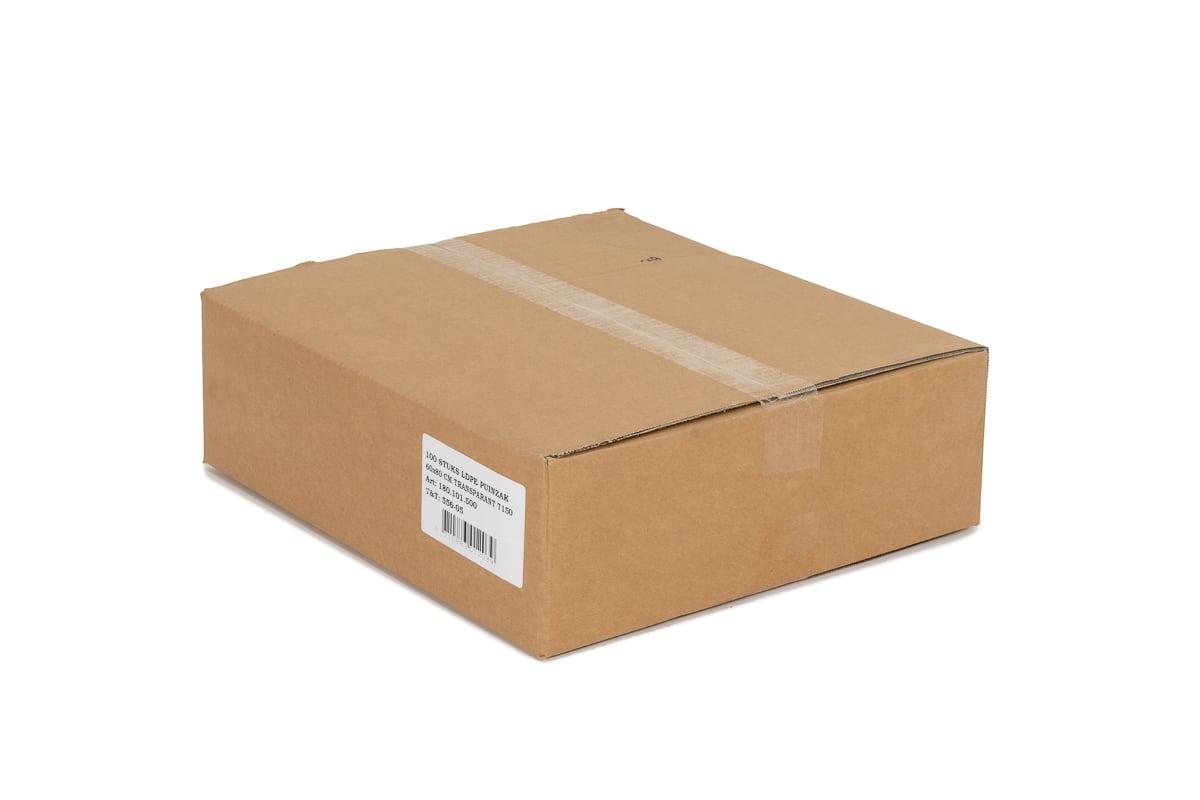 LDPE puinzakken transparant - 55 x 95cm x 150my