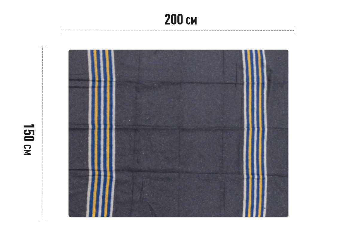 Verhuisdekens gestreept geel/wit/blauw - 150 x 200cm x 1350gr (5st)