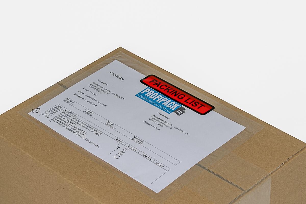Paklijst enveloppen Packing List - 225 x 165mm (1.000 st)
