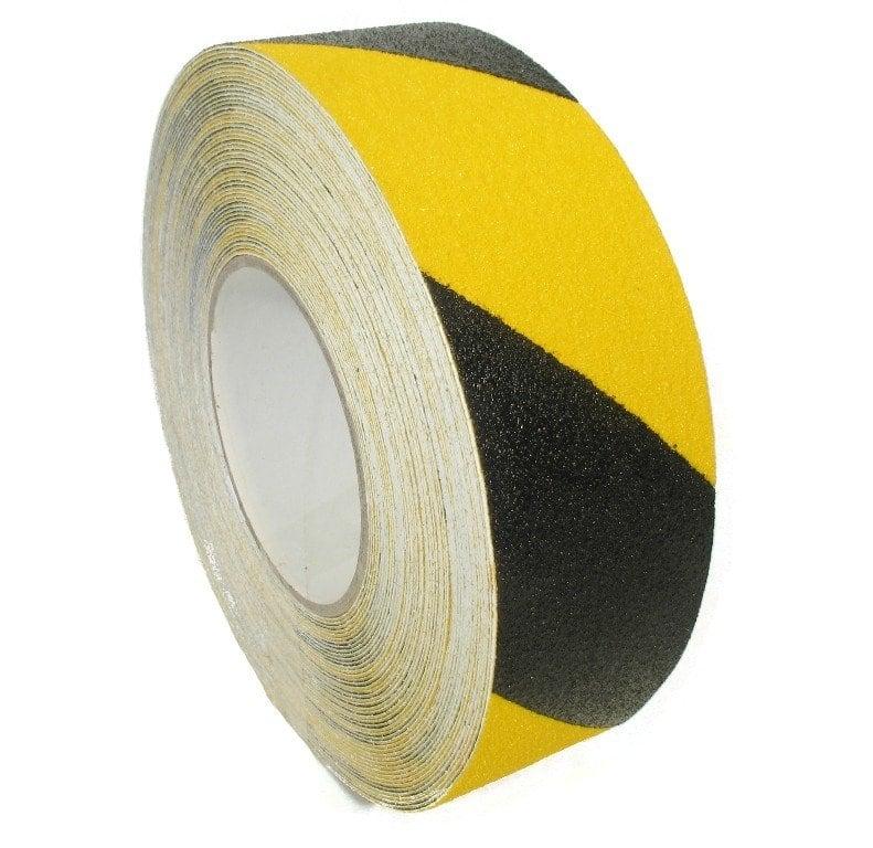 Antislip tape met korrel zwart/geel - 50mm x 18m