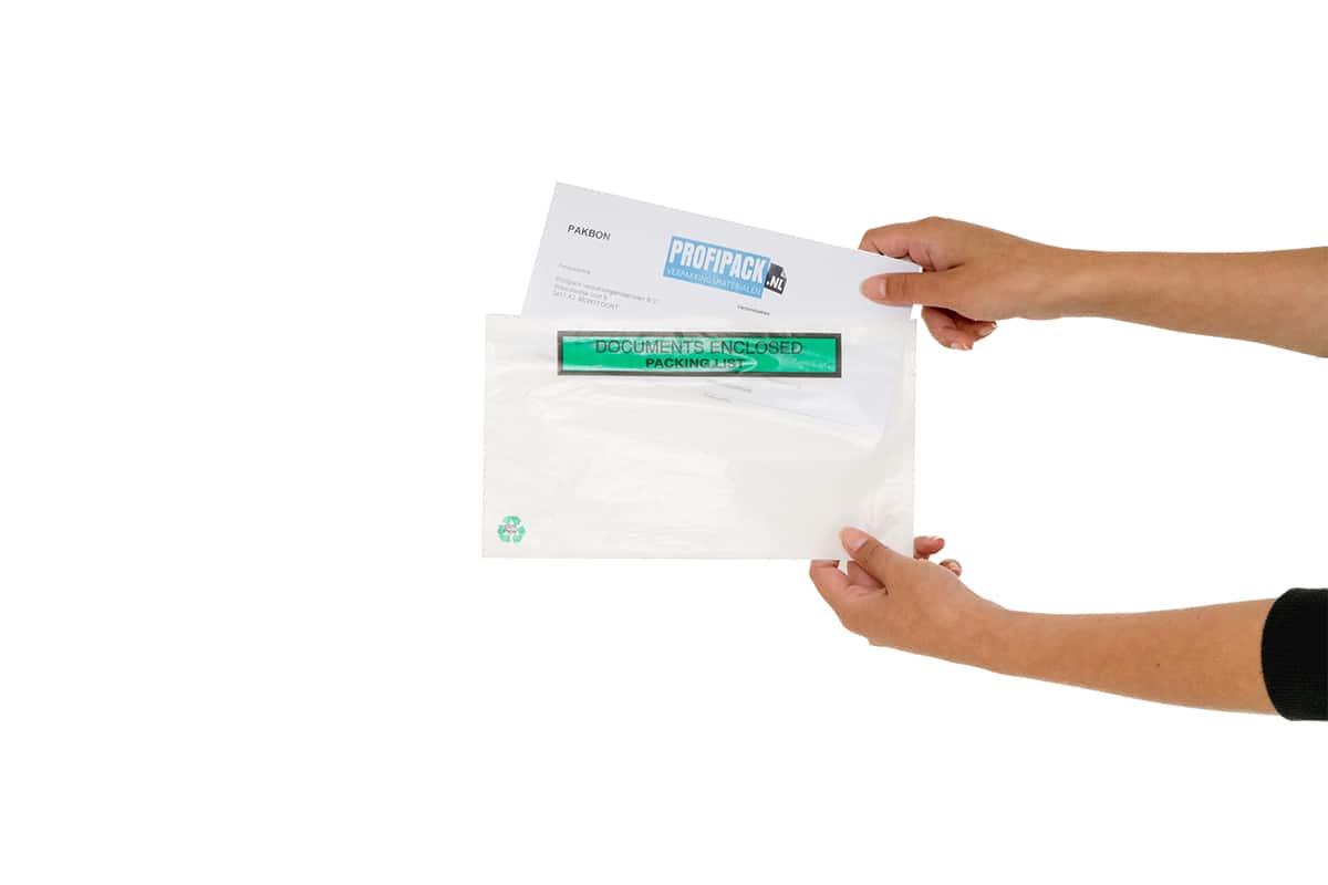 Eco papieren paklijst enveloppen Packing List - 230 x 125mm (1.000 st)