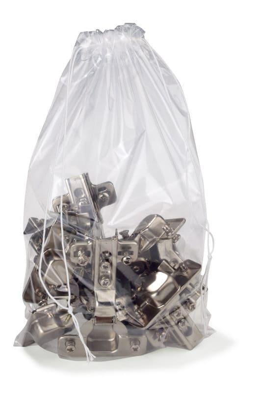 Plasticzakken LDPE + sluitkoord - 300 x 400mm x 50my (1000 st)