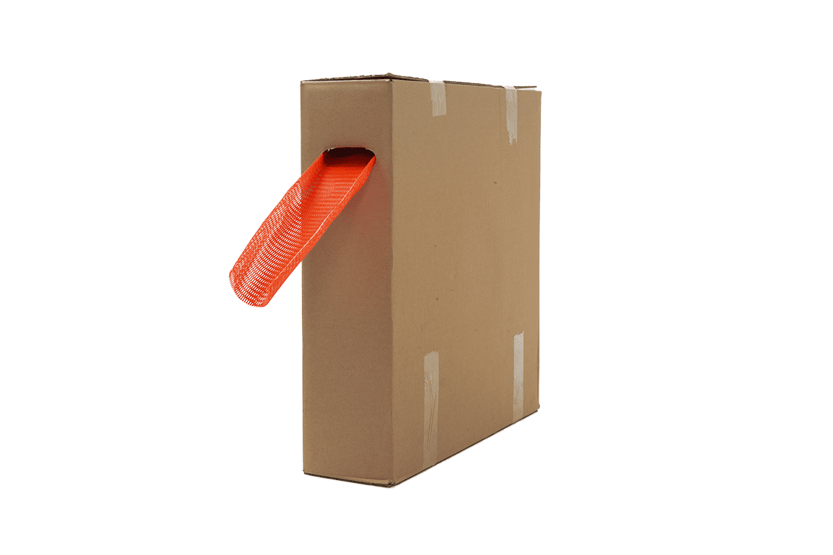 Plastic buisnet in dispenserdoos oranje - 100-200mm x 100m