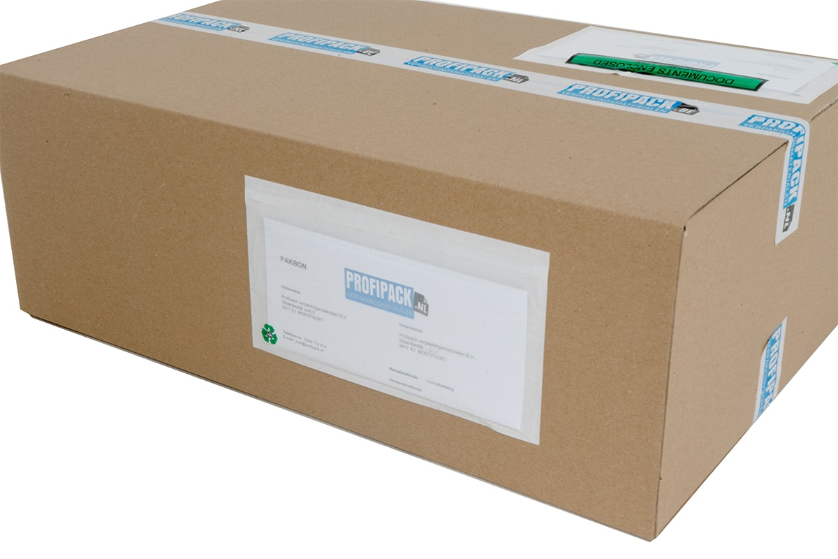 Eco papieren paklijst enveloppen blanco - 230 x 125mm (1.000 st)