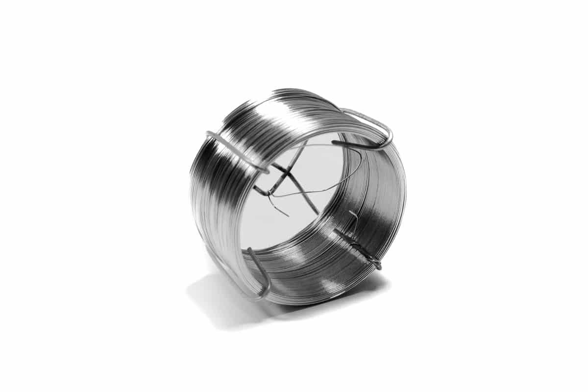 Metalen labeldraadjes op rol - 0,7mm x 100m