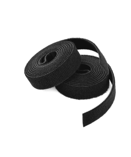 Klittenband dubbelzijdig zwart - 19mm x 25m