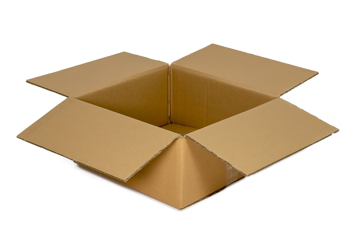 Kartonnen doos - 400 x 400 x 250mm (enkele golf)