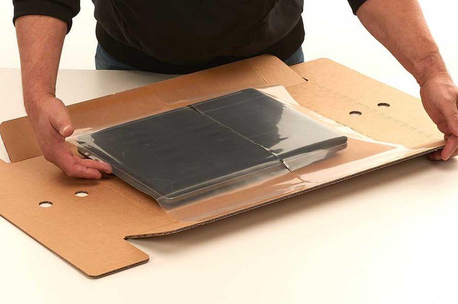 Laptop verzenddoos + fixeertray - 495 x 410 x 110mm (5 st)