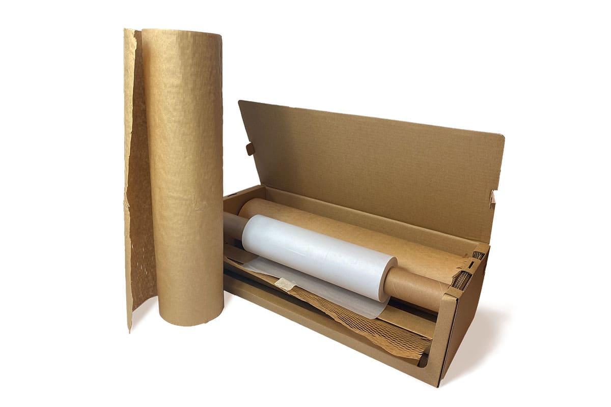 Paper Easy Wrap dispenser - 50cm x 80gr + 30cm x 110m softline (navulbaar)