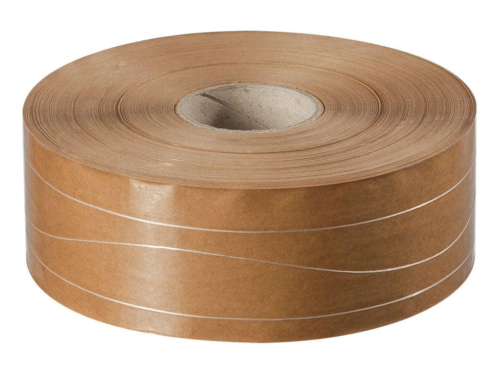 Papieren tape gegomd - 70mm x 200m - 70g/m2 - versterkt