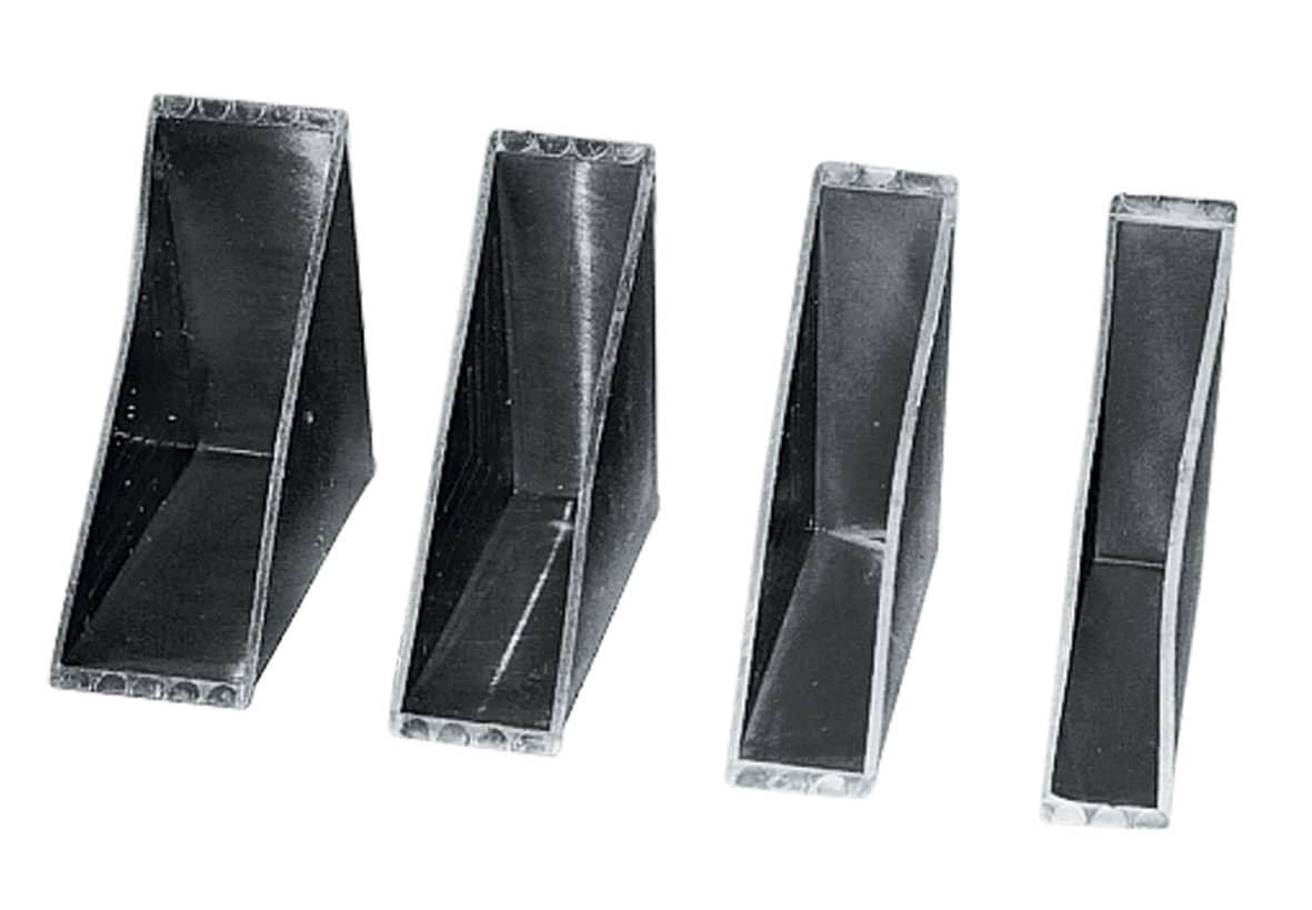 Kunststof glas beschermhoeken - 45 x 8,4 x 6mm (3.500 st)