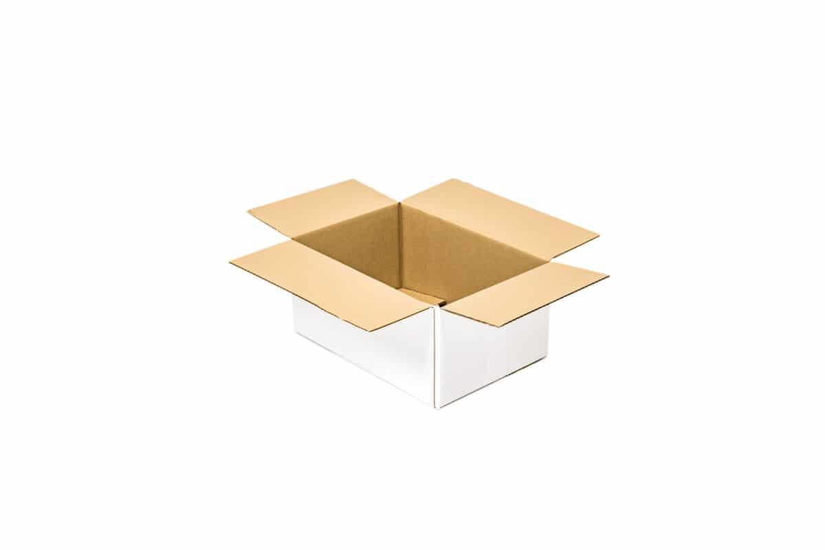 Kartonnen doos wit - 360 x 270 x 160mm (enkele C golf)