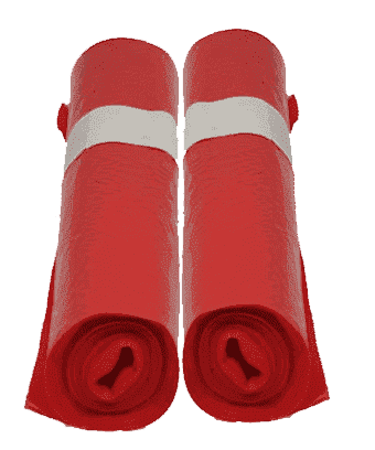 HDPE afvalzakken rood - 70 x 110cm x 25my