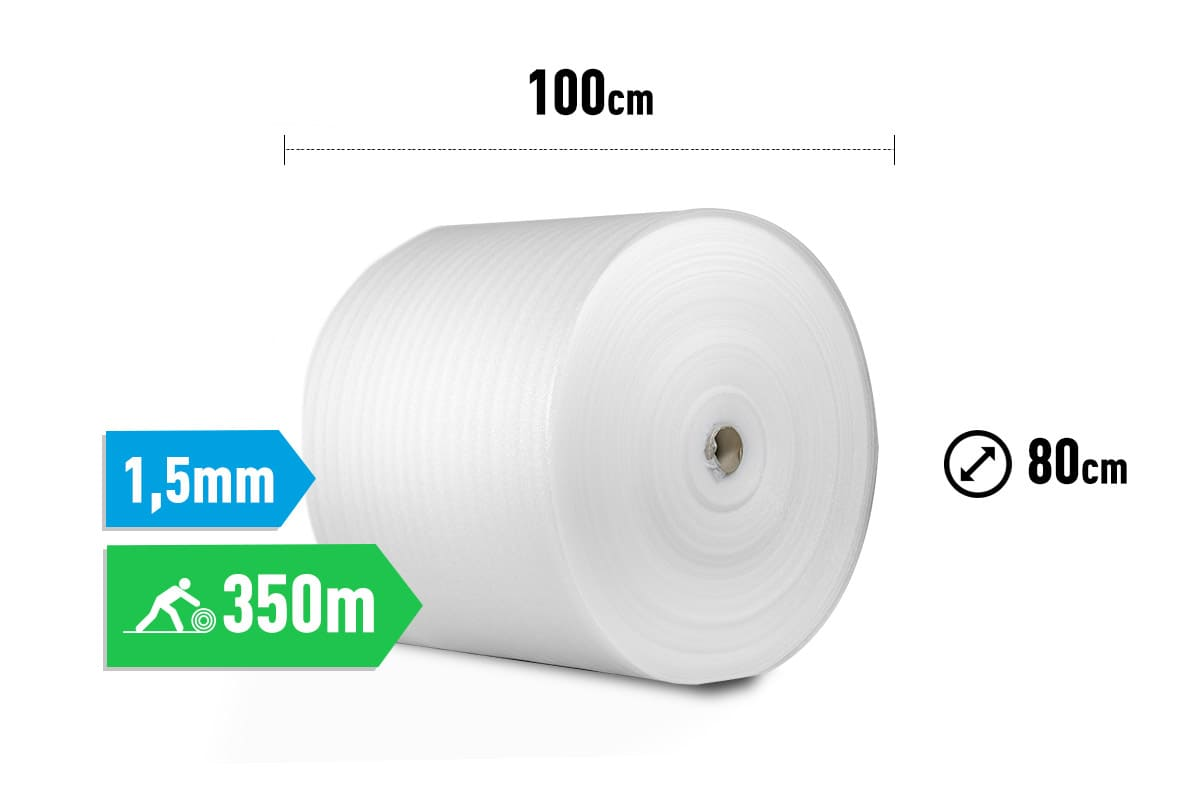 Schuimfolie - 100cm x 350m x 1,5mm