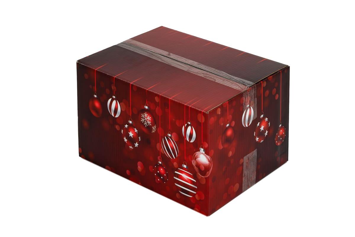 Kerstdoos rood Sparkling - 390 x 290 x 232mm