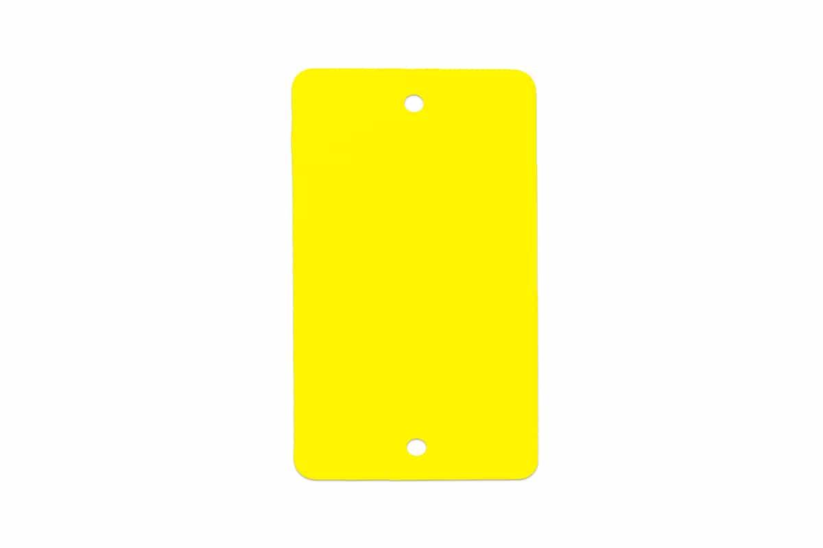PVC kunststof labels geel - 55 x 110mm (1.000 st)