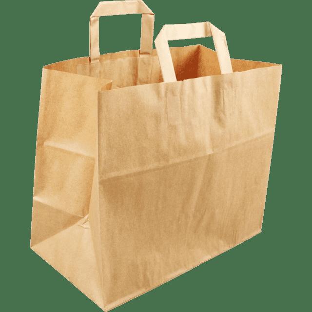 Biodore® papieren draagtas - 32 x 17 x 27cm (250 st)