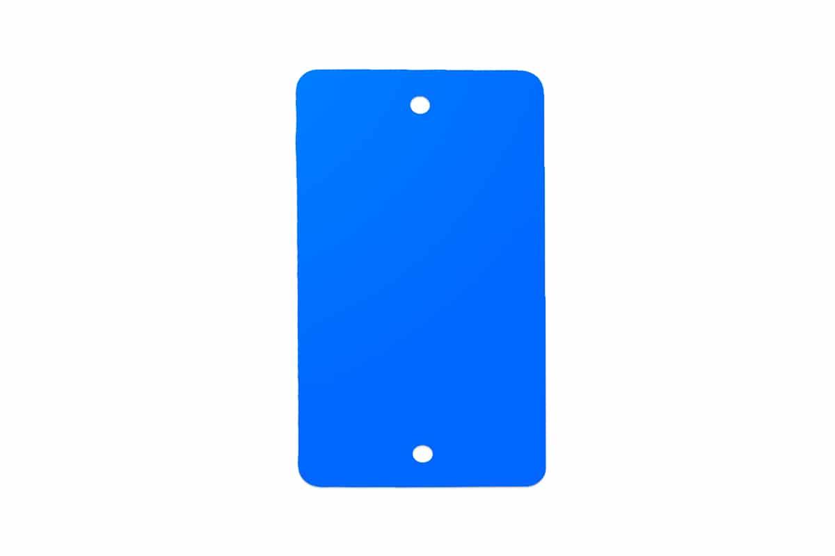 PVC kunststof labels blauw - 55 x 110mm (100 st)