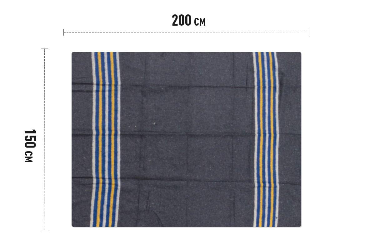 Verhuisdekens gestreept geel/wit/blauw - 150 x 200cm x 1350gr