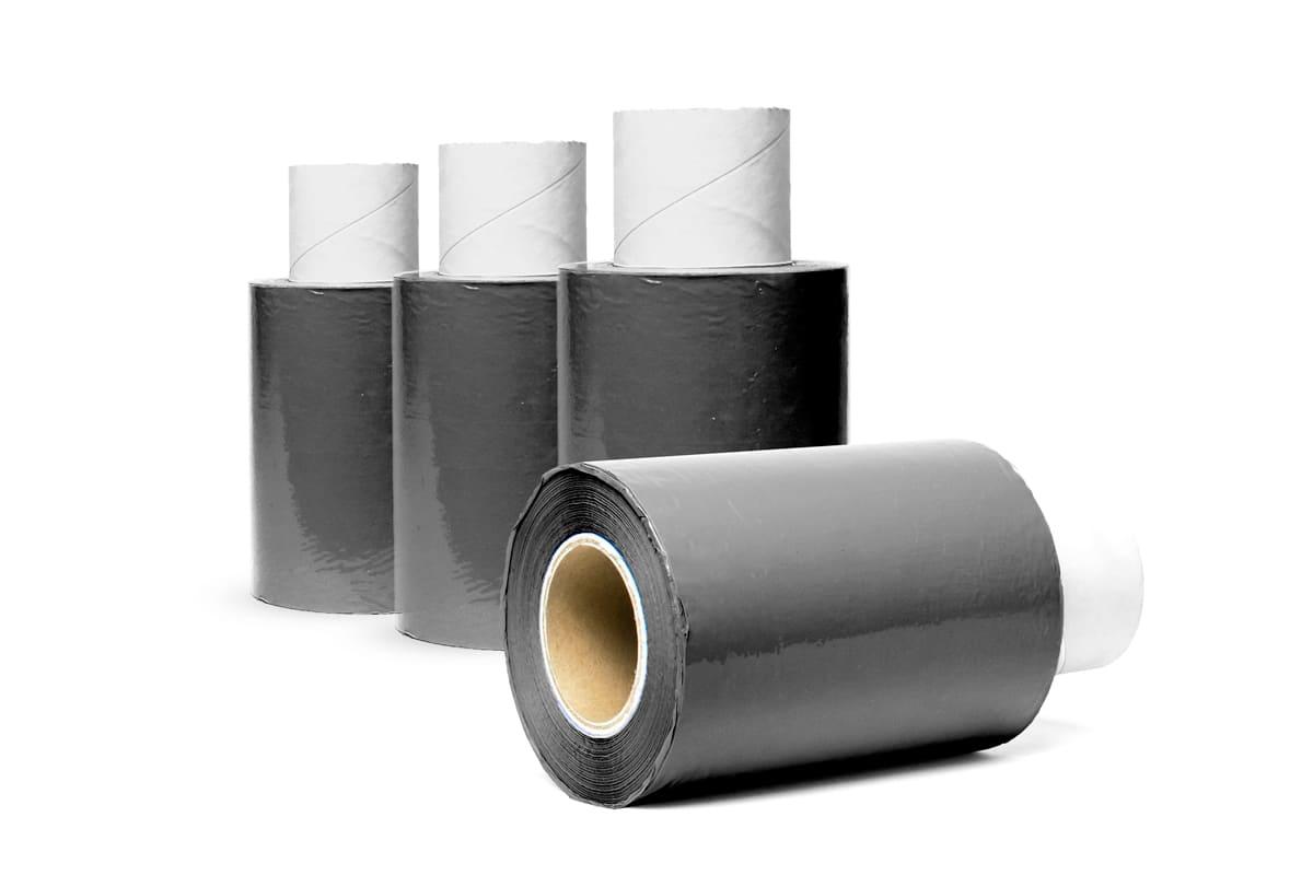 Bundelfolie zwart - 10cm x 250m x 20my