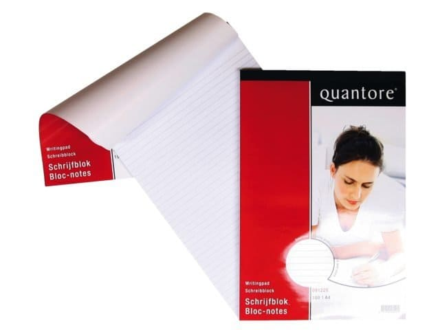 Schrijfblok Quantore A4 netto lijn - 60 gram (5 st)
