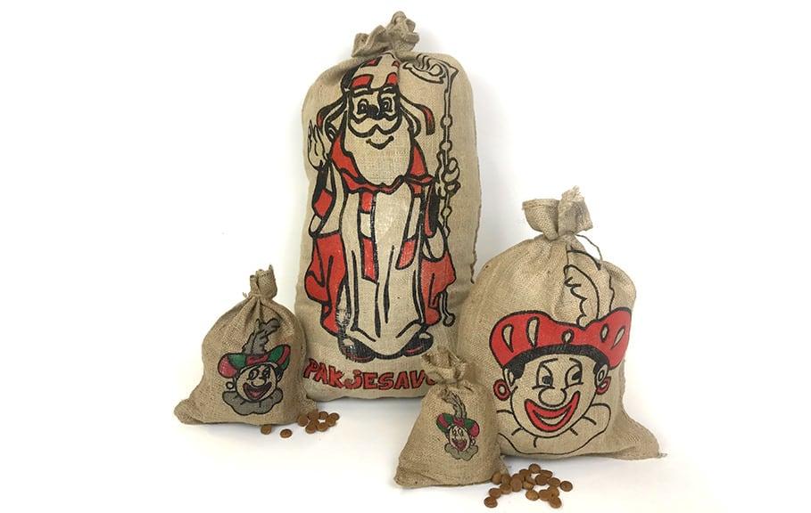 Jute Sinterklaas zak - 20 x 30cm