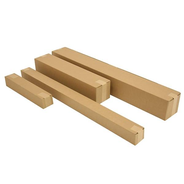 Vierkante kartonnen kokers - 430 x 120 x 120mm (10 st)