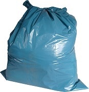 LDPE afvalzakken blauw - 65 x 135cm x 80my