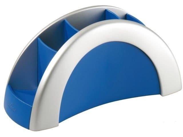 Pennenkoker Durable Vegas 5 vaks matzilver/blauw