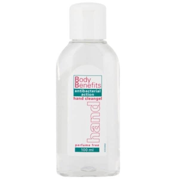 Body Benefits desinfectie handgel knijpflacon - 100ml (6 st)