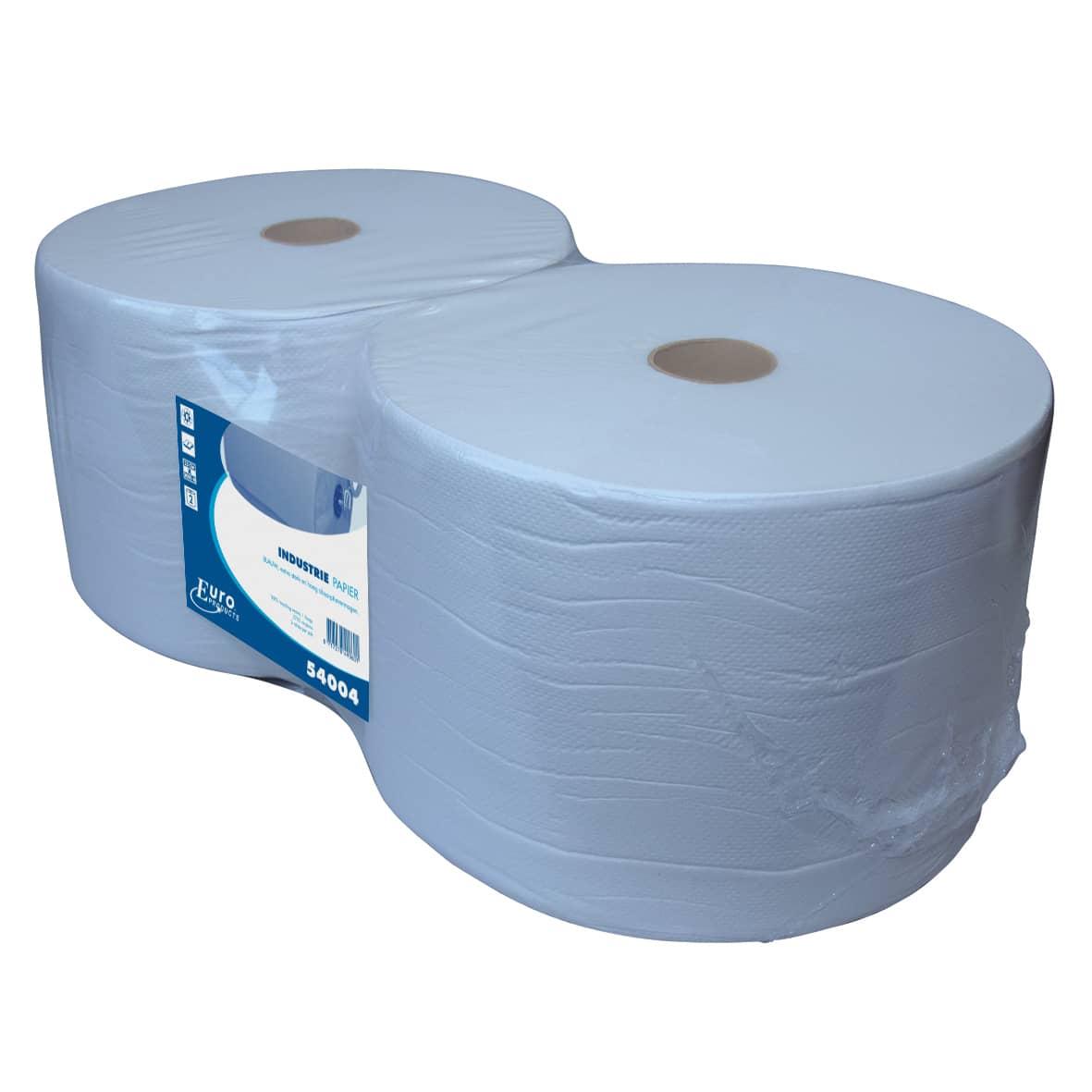 Poetspapier recycled blauw - 37cm x 380m (2 rollen)