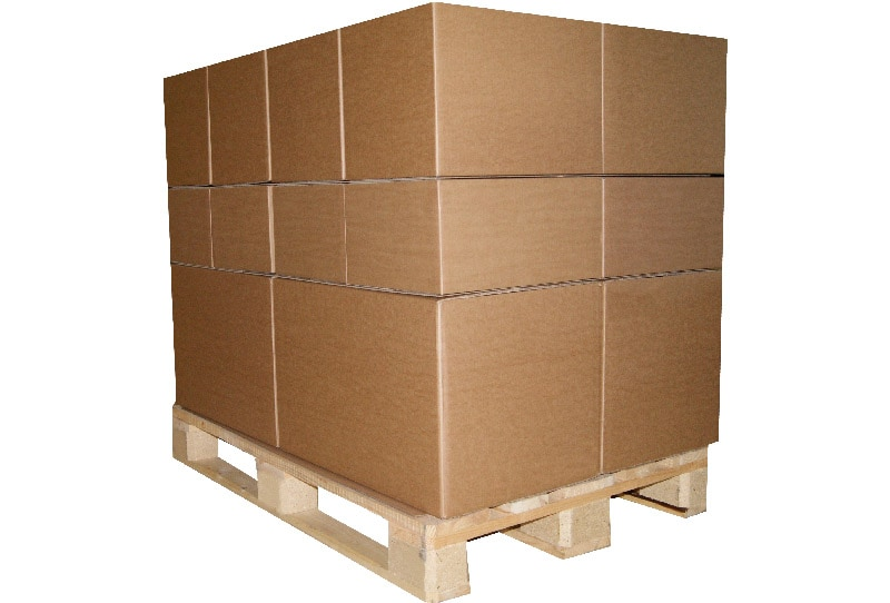 Kartonnen palletplaten blok massief - 118 x 98cm
