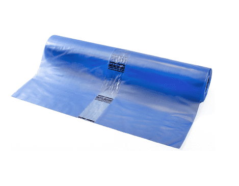VCI vlakke folie (corrosiewerend) transparant blauw - 600cm x 50m x 100my