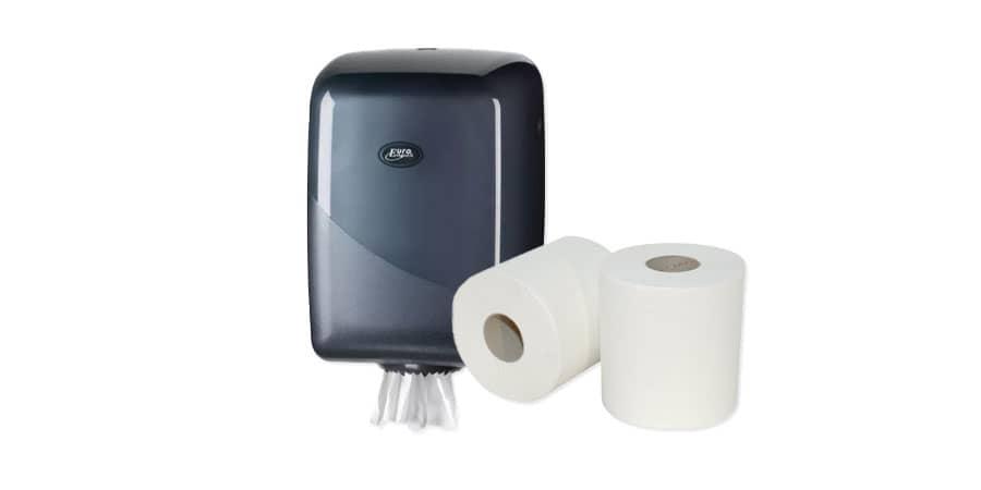 Midi poetspapier cellulose 2-laags met Midi dispenser