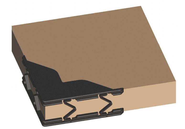 Zelfklemmende kunststof hoeken - 10/30mm (100 st)