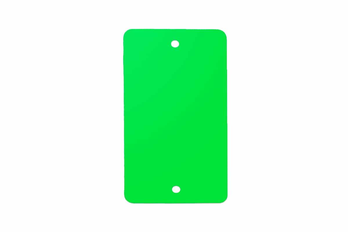 PVC kunststof labels groen - 55 x 110mm (100 st)