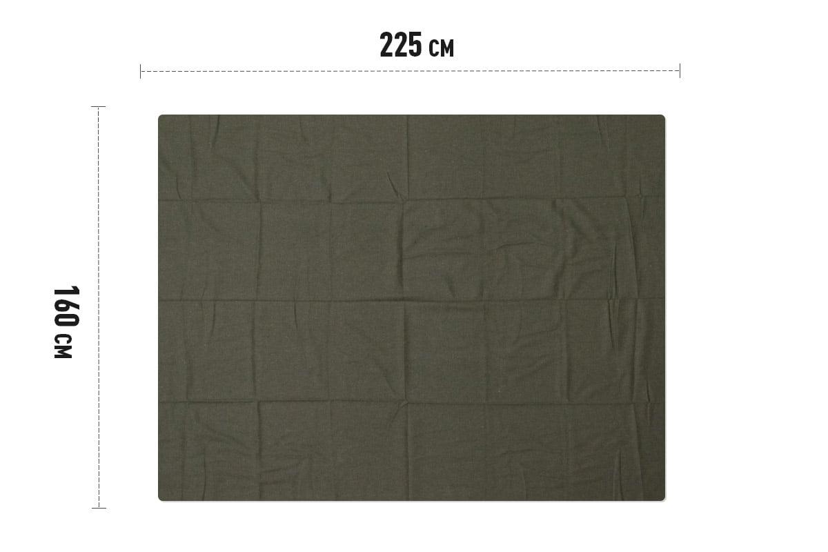 Legerdekens Alfa groen - 160 x 225cm x 50% wol