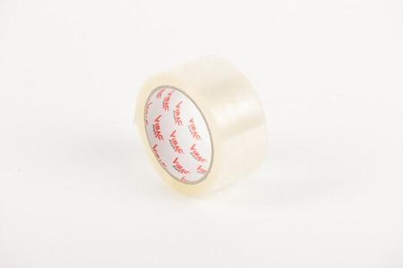 Tape dispenser + 36 rollen PP acryl tape transparant - 50mm