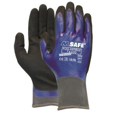 M-Safe full nitrile handschoenen 14-650 (8/M)