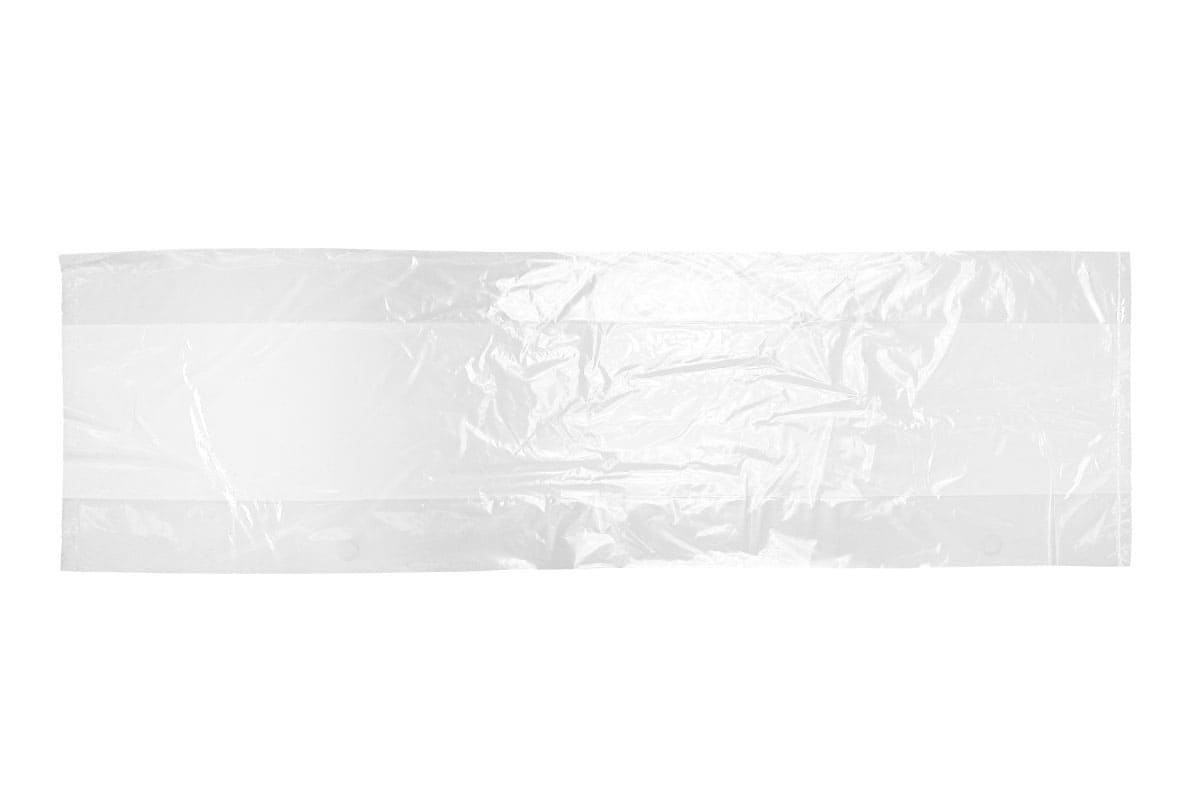 LDPE zijvouwzakken - 15 x 4,5 x 45cm x 70my (1.000 st)