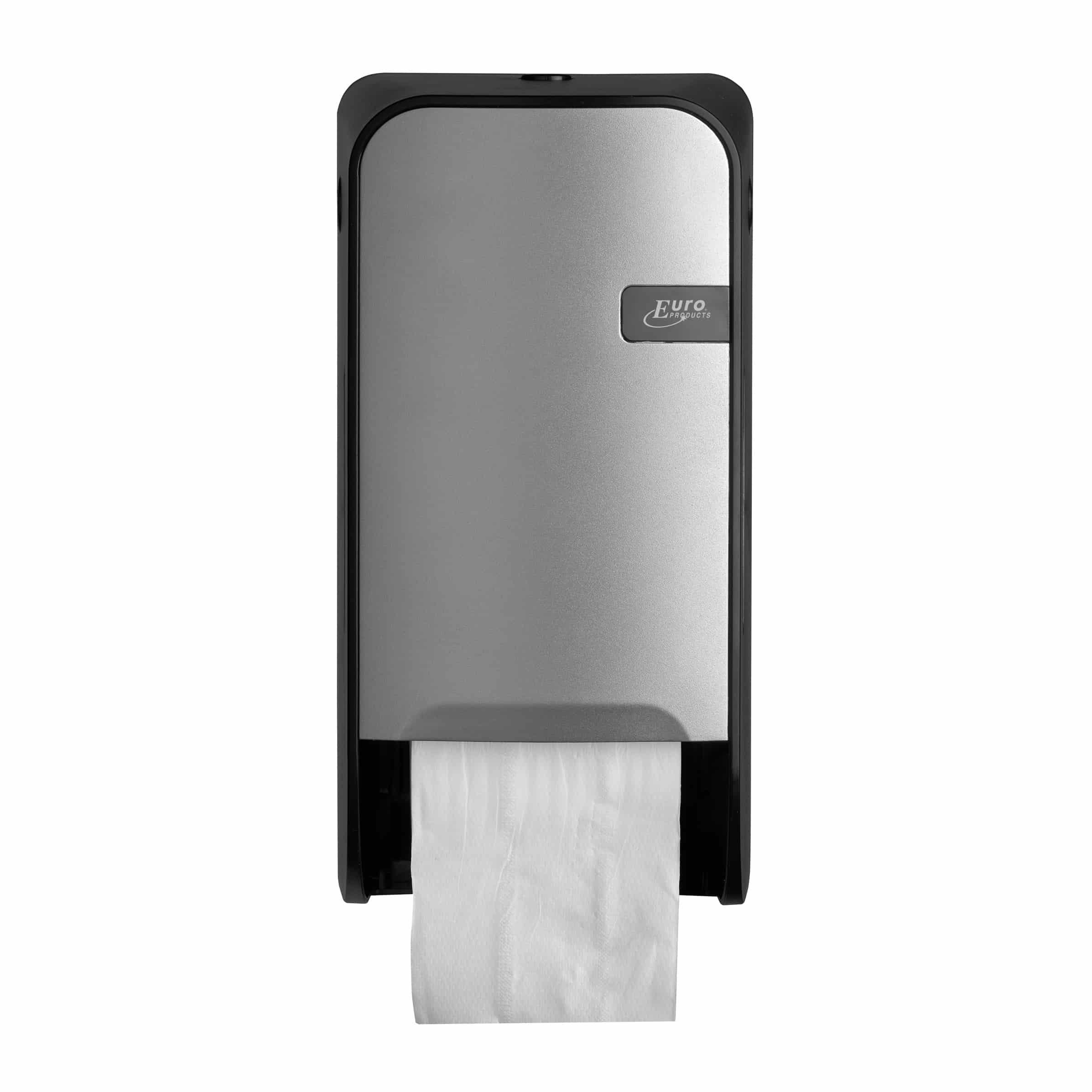 Quartz duo toiletrolhouder met remsysteem zilver - doprol