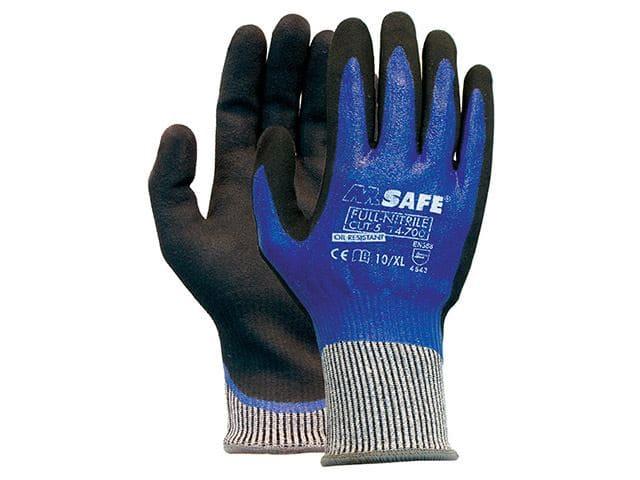 M-Safe full nitril handschoenen 14-700 - 12 paar