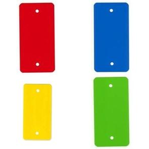 PVC kunststof labels rood - 55 x 110mm (1.000 st)